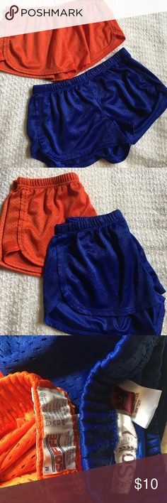 💙 Mesh short bundle 2 pairs of comfortable, soft mesh shorts. Blue have never been worn. They are SO brand. Orange shorts have only been worn once. They are soffe brand. No smoking home. Soffe Shorts
