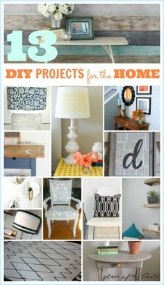 13 DIY PROJECTS FOR THE HOME @placeofmytaste.com