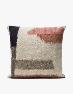 From MINNA, a handwoven pillow in Multi. Due to the handmade quality of this item, there may be slight variations in the appearance. Contemporary Home Decor, Patterned Carpet, Affordable Home Decor, Toss Pillows, Carpet Runner, Home Decor Accessories, Kitchen Accessories, Architecture, Diy Art