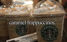Caramel (cream) frappuccinos - just girly things