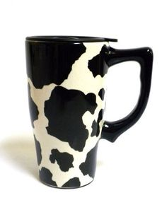 Cow Print Travel Mug By Spoontiques, http://www.amazon.com/dp/B0097AY1SQ/ref=cm_sw_r_pi_awdm_bGC3sb0X5C157