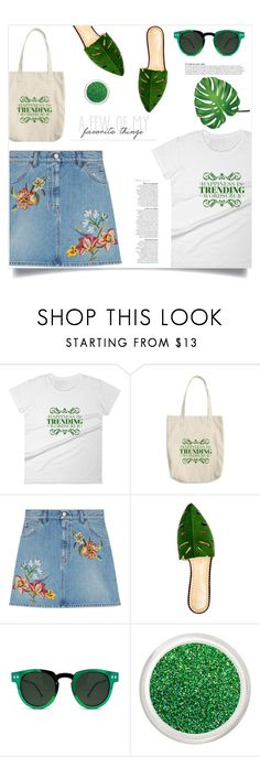 """""""Happiness is trending, (8)"""" by samra-bv ❤ liked on Polyvore featuring Gucci, Charlotte Olympia, Spitfire and Anja"""