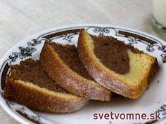 Výborná bábovka • Recept | svetvomne.sk Banana Bread, French Toast, Baking, Breakfast, Desserts, Basket, Cacao Powder, Schokolade, Mudpie