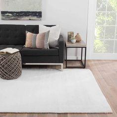 Juniper Home Aurora Handmade Solid White Area Rug (5' X 8') (5X8), Beige Off-White, Size 5' x 8'