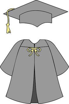 Mütze und Mantel - Decoration For Home Graduation Templates, Graduation Crafts, Graduation Theme, Graduation Cap Decoration, Preschool Graduation, College Graduation, Graduation Cap And Gown, Drawing School, Blonde With Pink