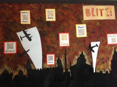 my interactive Blitz classroom display Year 6, Primary Classroom, Classroom Displays, Ww2, Decir No, School Stuff, Britain, Education, Painting