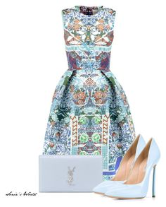 """""""Light"""" by sonies-world on Polyvore featuring Mary Katrantzou, Yves Saint Laurent and Casadei"""