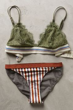 #anthroregistry Love Stories Wild Rose Bikini - anthropologie.com en trend 2015 , fancy bikini or folk style patchwork lingerie for wearing around the pool to catch the sun cute 70's hippy chic with a touch of elegance or as bedtime wear on hot nights , match with chunky wedges and a sheer cream vintage style lacey kimono cover all yummy alice 2015