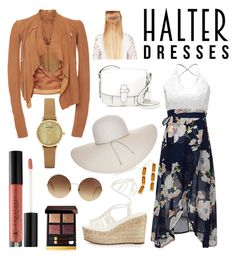 """halter dress"" by unchie18 on Polyvore featuring Rick Owens, Chloé, MICHAEL Michael Kors, Nine West, Victoria Beckham, John Lewis, Tom Ford, Anastasia Beverly Hills, Emporio Armani and halterdresses"