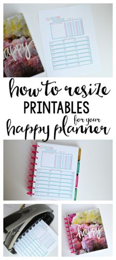 to Resize Printables for your Happy Planner Hi guys! I have a fun post to share today- I shared a look at my new Happy…Hi guys! I have a fun post to share today- I shared a look at my new Happy… Arc Planner, To Do Planner, Planner Tips, Planner Pages, Life Planner, Planner Inserts, 2015 Planner, Disney Planner, Planner Sheets