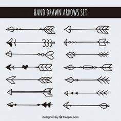 Hand drawn arrows set
