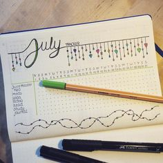 Monthly habit tracker for your Bullet Journal (BuJo).