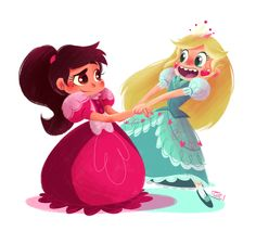 Give me these two ruling Mewni together as Queen Star and Queen Marco please