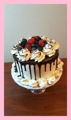 Trendy Ideas For Fruit Cake Decorating Parties Cake Decorating With Fondant, Creative Cake Decorating, Birthday Cake Decorating, Cake Decorating Amazing, Birthday Desserts, First Birthday Cakes, Birthday Parties, Fruit Birthday Cake, Cake Decorated With Fruit