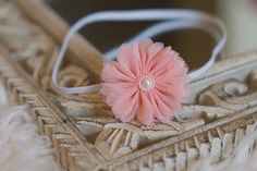 Pink Flower Headband for Girls & Photography Prop.