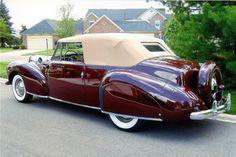 1941 LINCOLN CONTINENTAL CABRIOLET - Rear 3/4 - 206439