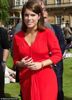 Princess Eugenie. Daughter of Prince Andrew, Duke of York and Sarah Ferguson, Duchess of York. The parents are divorced.