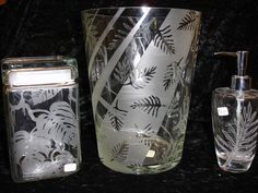 Tropical Etch glass etching stencils from Rubber Stamp Plantation your source for stamps, stickers, decals, stencils, and temporary tattoos with a Hawaiian flair.