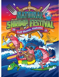 The 44th Annual National Shrimp Festival will be held October 8-11, 2015. The festival is held annually in the heart of Gulf Shores, Alabama.