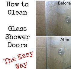 Holy sht Tried this today and totally works Clean Shower Door