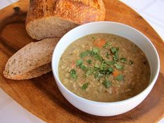 Historical recipe for Jacob's Lentil Stew and background on ancient Israelite food and cooking. Torah, Biblical cooking, Israel, Neot Kedumim