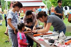 Kids' crafts at the Heritage Festival in Nifong Park