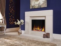 The complete Celsi Ultiflame VR Rennes Electric Suite * Contemporary electric fireplace * The surround is of the finest quality Portuguese limestone * Remote control * 2 year warranty *Free mainland UK delivery * Fireplace Remodel, Fireplace Suites, Gas Fireplace, Inset Fireplace, Front Room, Fireplace Surrounds, Suite, Fireplace Hearth, Suites