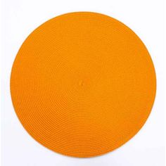 Disponible sur Maisondulinge.fr Set de table Rond Orange 38cm