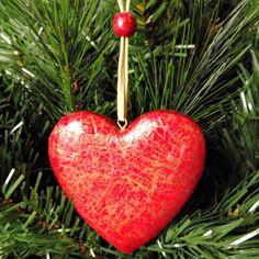 Christmas Heart Ornament Tree Decoration by TopFloorTreasures, $9.50