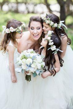 Such a sweet photo: http://www.stylemepretty.com/little-black-book-blog/2015/05/19/romantic-spring-wedding-at-smog-shoppe/ | Photography: Koman Photo - http://komanphotography.com/