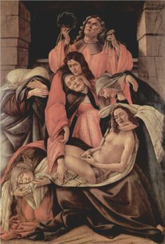Sandro Botticelli, Lamentation over the Dead Christ, 1490