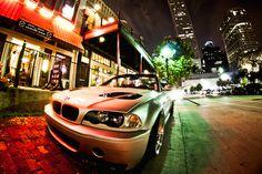BMW at night Downtown Houston | Fisheye Lens | WWPW 2012 - 010 by I-SEEN-IT RubenS, via Flickr