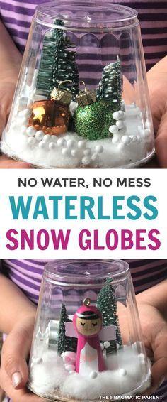 How To Make A Waterless Snow Globe Christmas Snow Globes Snow