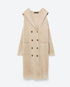 Image 8 of LONG JACKET WITH HOOD from Zara
