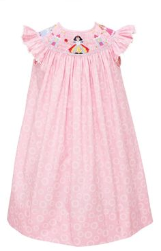 Loving everything by Southern Tots....especially this Disney Princess smocked bishop dress.  So cute!