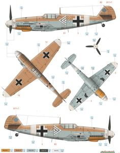 Bf 109G-2/Trop JG 77 Color Profile and Paint Guide Added