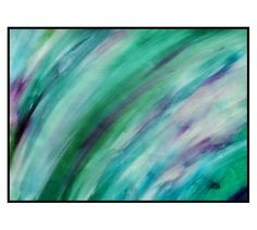 Theatre Original Abstract Art A3 Painting Green Blue Purple White Contemporary Concept Artwork Robert McConvey - pinned by pin4etsy.com