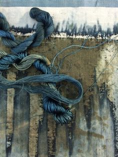 choosing threads Helen Terry. Love her colors and textures.