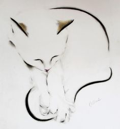The Tail is Caught!, pencil drawing by Kellas Campbell, 2015.
