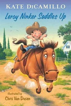 """Saddle up for this first volume in a spin-off series starring favorite characters from DiCamillo's """"New York Times""""-bestselling Mercy Watson books. Leroy Ninker has a hat, a lasso, and boots. What he doesn't have is a horse--until he meets Maybelline, and then it's love at first sight.  Gr. K-2. Lexile: 500L"""