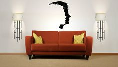 Wall Vinyl Sticker Decals Mural Room Design Pattern Fashion Style Two Face Man Woman  bo534 by RoomDecalsAndDesigns on…