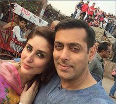 Salman Kareena Selfie on first day of shoot for Bajrangi Bhaijaan
