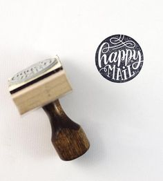 Happy Mail Hand-Lettered Stamp