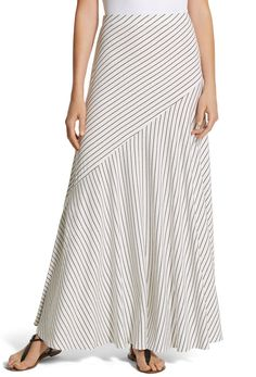 Chico's Small Stripe Sammi Maxi Skirt