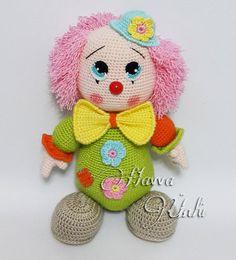 PATTERN  Mister Clown by HavvaDesigns on Etsy, $8.99