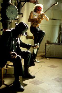 John Lee Hooker and Carlos Santana by rockpix.com