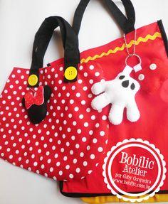Bolsinhas Mickey e Minnie - Bobilic Atelier