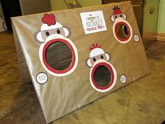 Sock Monkey Bean Bag Toss Tutorial