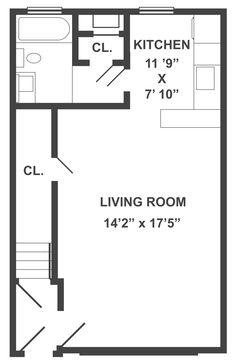 typical studio apartment floor plan | studio apartments | studio