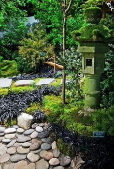 Create a Garden Like the Japanese-Garden Tall Lantern